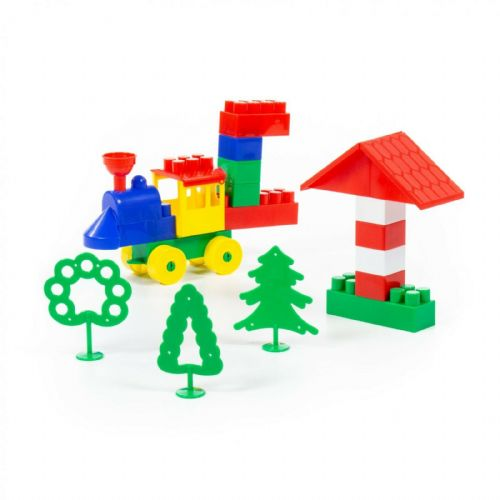 Construction Builder Set-44 Pieces, Multi Colour